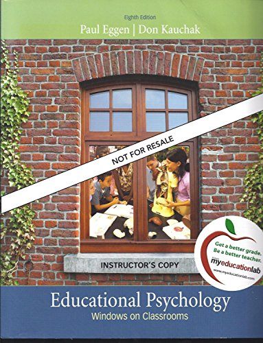 9780138158392: Educational Psychology: Windows on Classrooms
