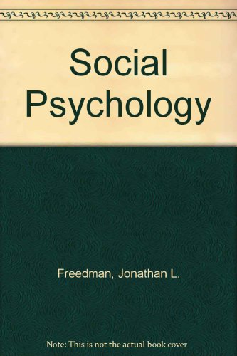 Social Psychology: David O. Sears;