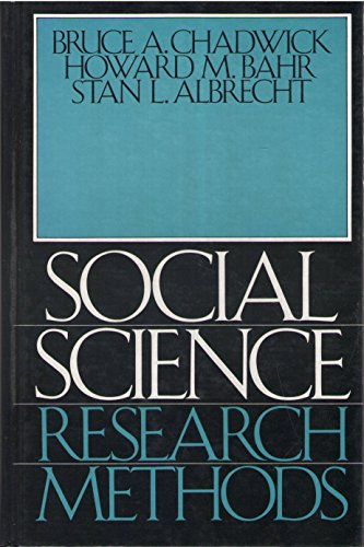Social Science Research Methods: Bahr, Howard M.,