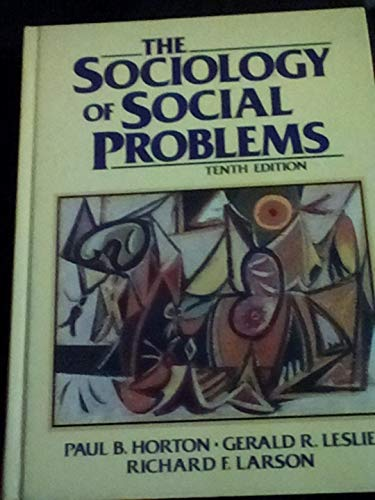 9780138187415: The Sociology of Social Problems