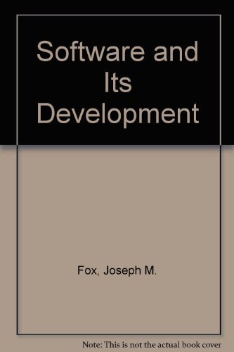 9780138220983: Software and Its Development