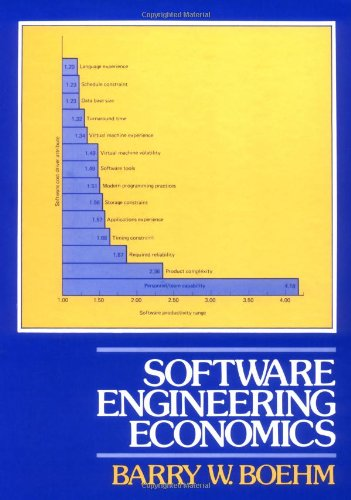 9780138221225: Software Engineering Economics (Prentice-Hall advances in computing science & technology series)