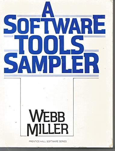 9780138223052: A Software Tools Sampler (Prentice-Hall Software Series)