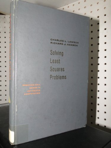 9780138225858: Solving Least Squares Problems (Prentice-Hall Series in Automatic Computation)