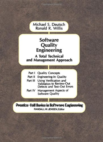 9780138232047: Software Quality Engineering: A Total Technical & Management Approach
