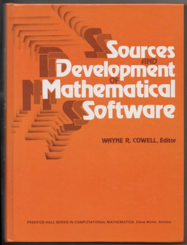 9780138235017: Sources and Development of Mathematical Software