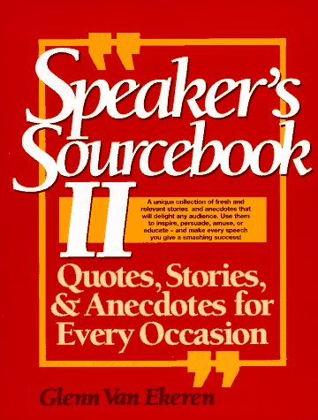 9780138252250: The Speaker's Sourcebook: 2