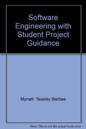 9780138262310: Software Engineering with Student Project Guidance