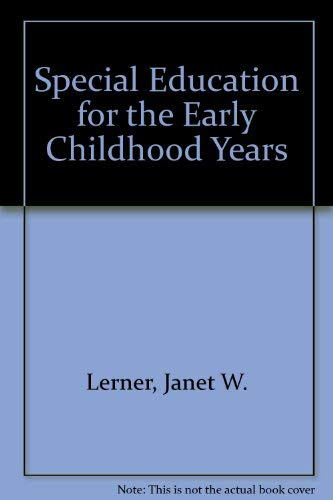 9780138264703: Special Education for the Early Childhood Years