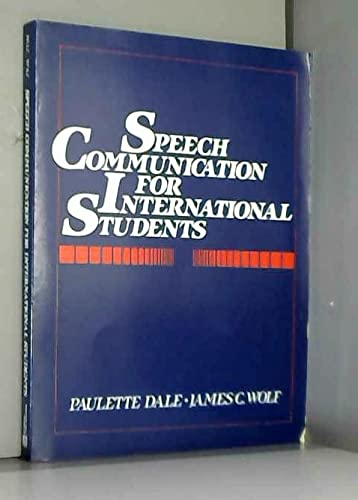 9780138273125: Speech Communication for International Students