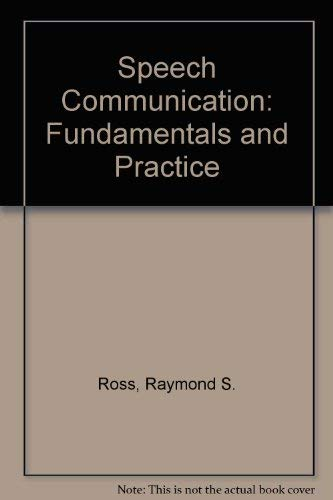 9780138273606: Speech communication;: Fundamentals and practice