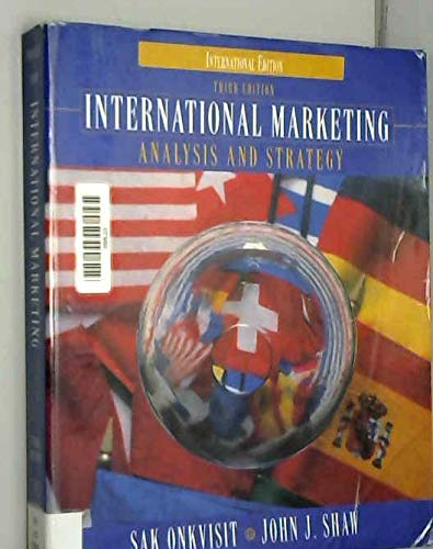 9780138383435: International Marketing Analysis and Strategy (Prentice Hall international editions)