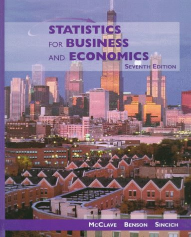 Statistics for Business and Economics: James T. McClave,