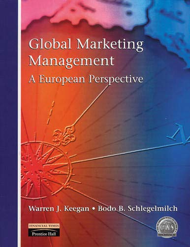 9780138418267: Global Marketing Management: A European Perspective