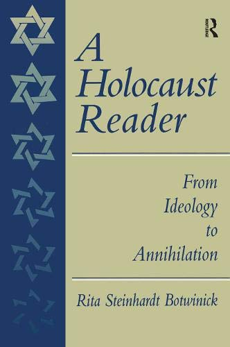 9780138422387: A Holocaust Reader: From Ideology to Annihilation