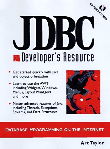 9780138423520: Jdbc Developer's Resource: Database Programming on the Internet (Prentice Hall Ptr Developer's Resource Series)