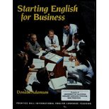 9780138425197: Starting English for Business