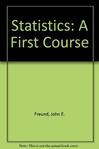 9780138445232: Statistics: A First Course