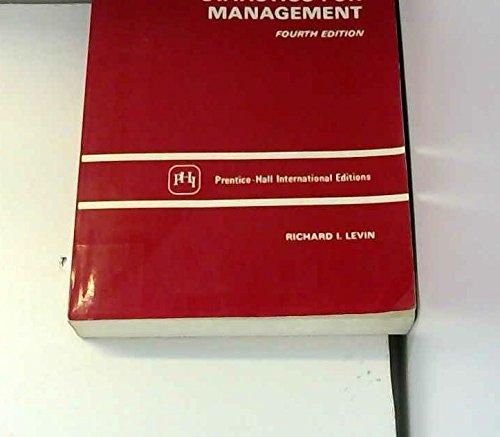 9780138452070: Statistics for Management
