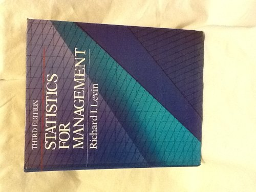 9780138452483: Statistics for Management (P-H international series in management)