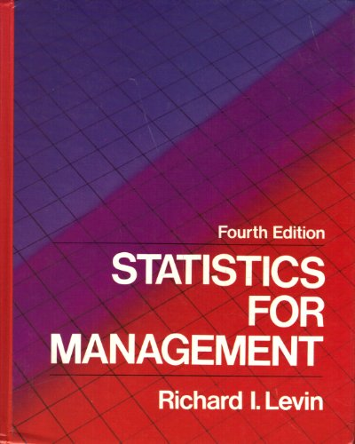 9780138453480: Statistics for Management