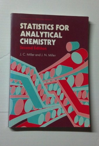 9780138454210: Statistics for Analytical Chemistry (Ellis Horwood Series in Analytical Chemistry)