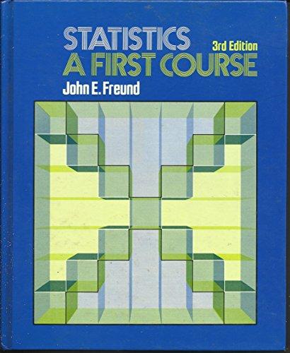 9780138459581: Statistics: A first course