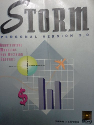 9780138474430: Storm: Personal Version 3.0 : Quantitative Modeling for Decision Support