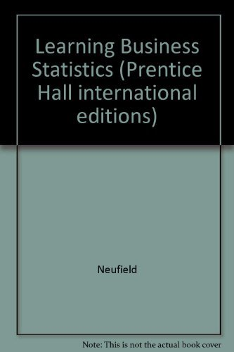 9780138493998: Learning Business Statistics (Prentice Hall international editions)