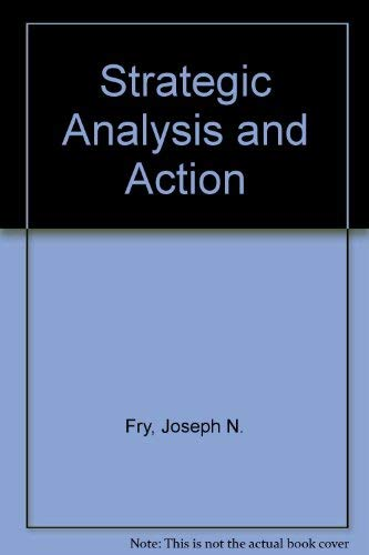 9780138509187: Strategic Analysis and Action/U.S.