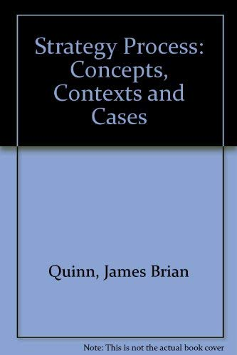 9780138509262: Strategy Process: Concepts, Contexts and Cases
