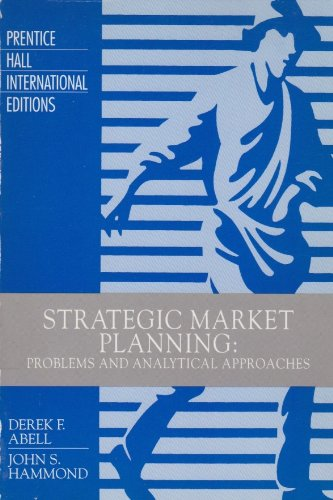 9780138510497: Strategic Market Planning: Problems and Analytical Approaches