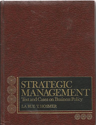 9780138510633: Strategic Management: Text and Cases on Business Policy