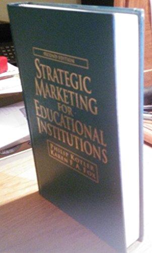 9780138514037: Strategic Marketing for Educational Institutions