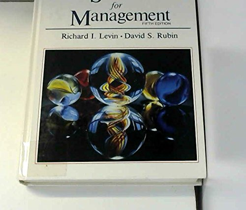 Statistics for Management: David S. Rubin;