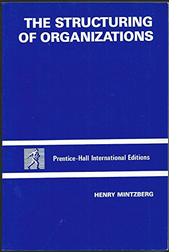 9780138537715: Structuring of Organizations