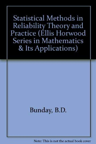 9780138537975: Statistical Methods in Reliability Theory and Practice (Mathematics and Its Applications (Ellis Horwood Ltd))