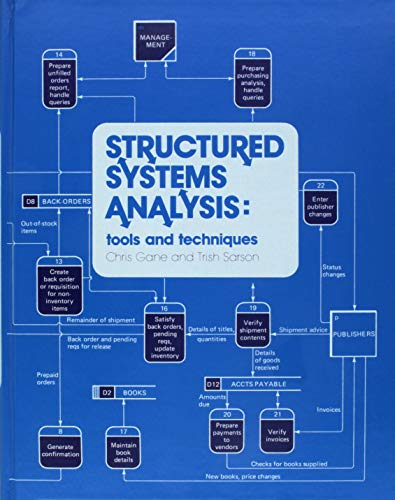9780138545475: Structured Systems Analysis: Tools and Techniques