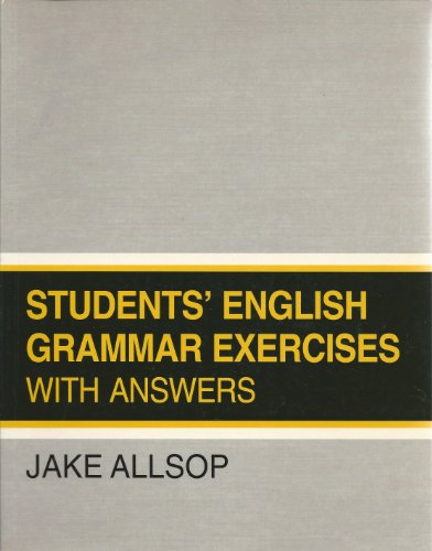 9780138560553: Students' English Grammar Exercises: Edition with Answer Key