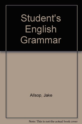 9780138560973: Student's English Grammar