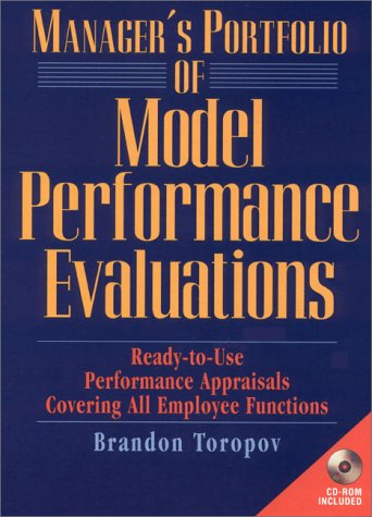 9780138564513: Manager's Portfolio of Model Performance Evaluations: Ready-to-Use Performance Appraisals Covering All Employee Functions (Book & CD-ROM)