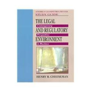 9780138578220: The Legal and Regulatory Environment: Contemporary Perspectives in Business
