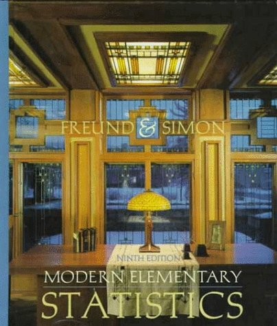 9780138582913: Modern Elementary Statistics