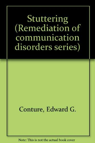 9780138589776: Stuttering (Remediation of communication disorders series)