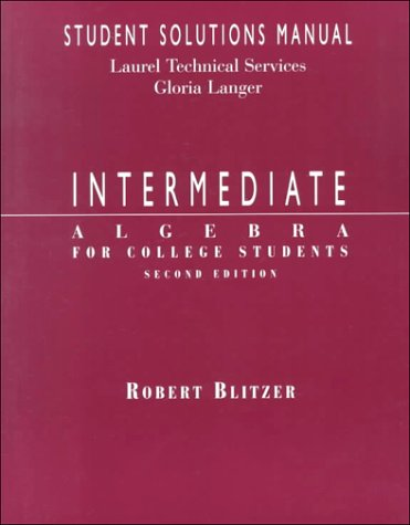 9780138603212: Intermediate Algebra