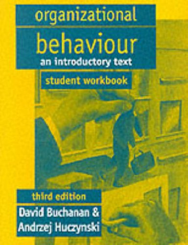 9780138611620: Organizational Behaviour: Student's Manual