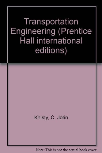 9780138615277: Transportation Engineering (Prentice Hall international editions)