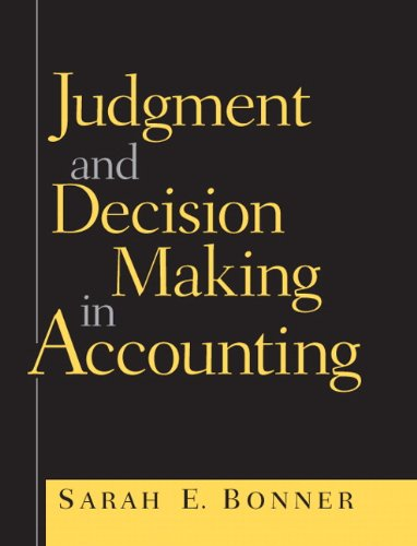 9780138638955: Judgment and Decision Making in Accounting