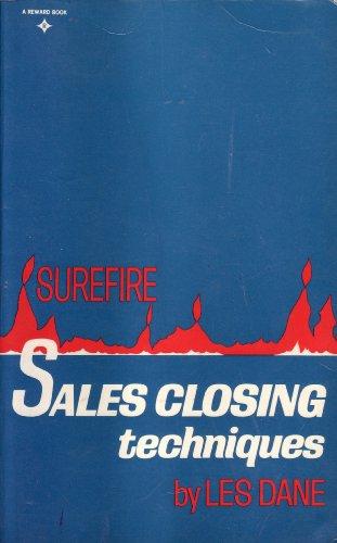 Surefire Sales Closing Techniques (9780138778941) by Les Dane