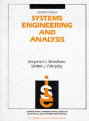 9780138807580: Systems Engineering and Analysis (Prentice-Hall international series in industrial & systems engineering)